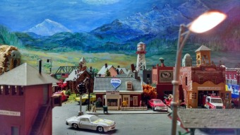town in a train set