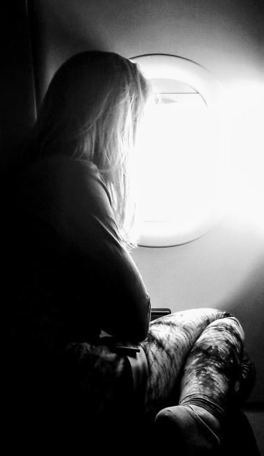 Stefanie in flight